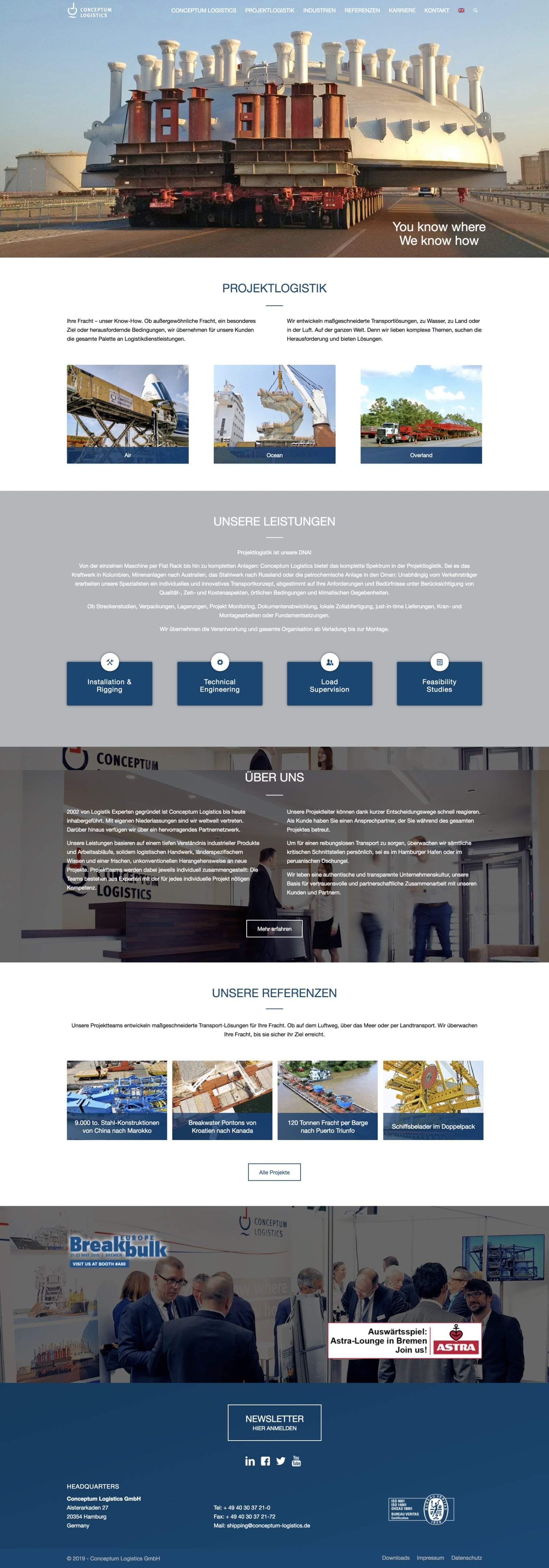 Conceptum Logistics Website