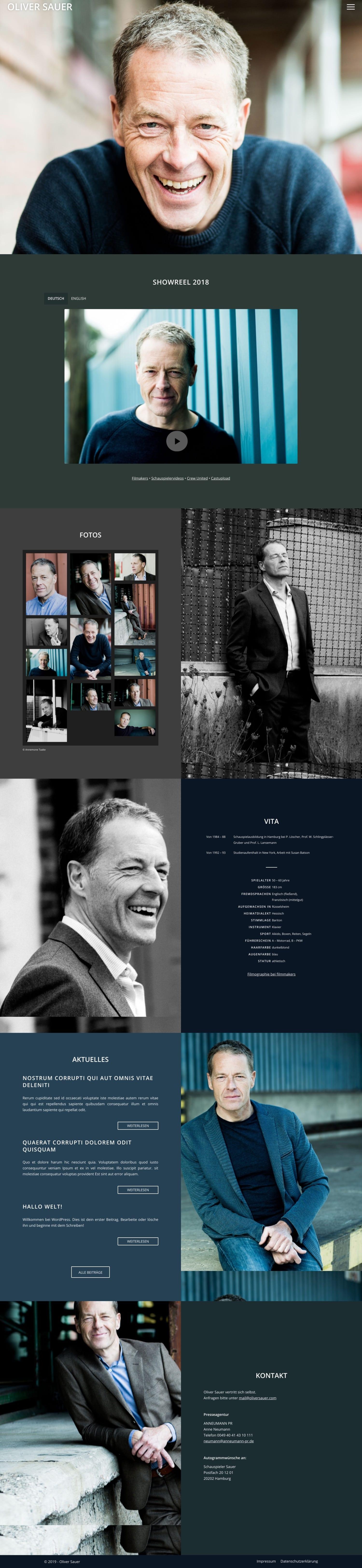 Oliver Sauer - Website