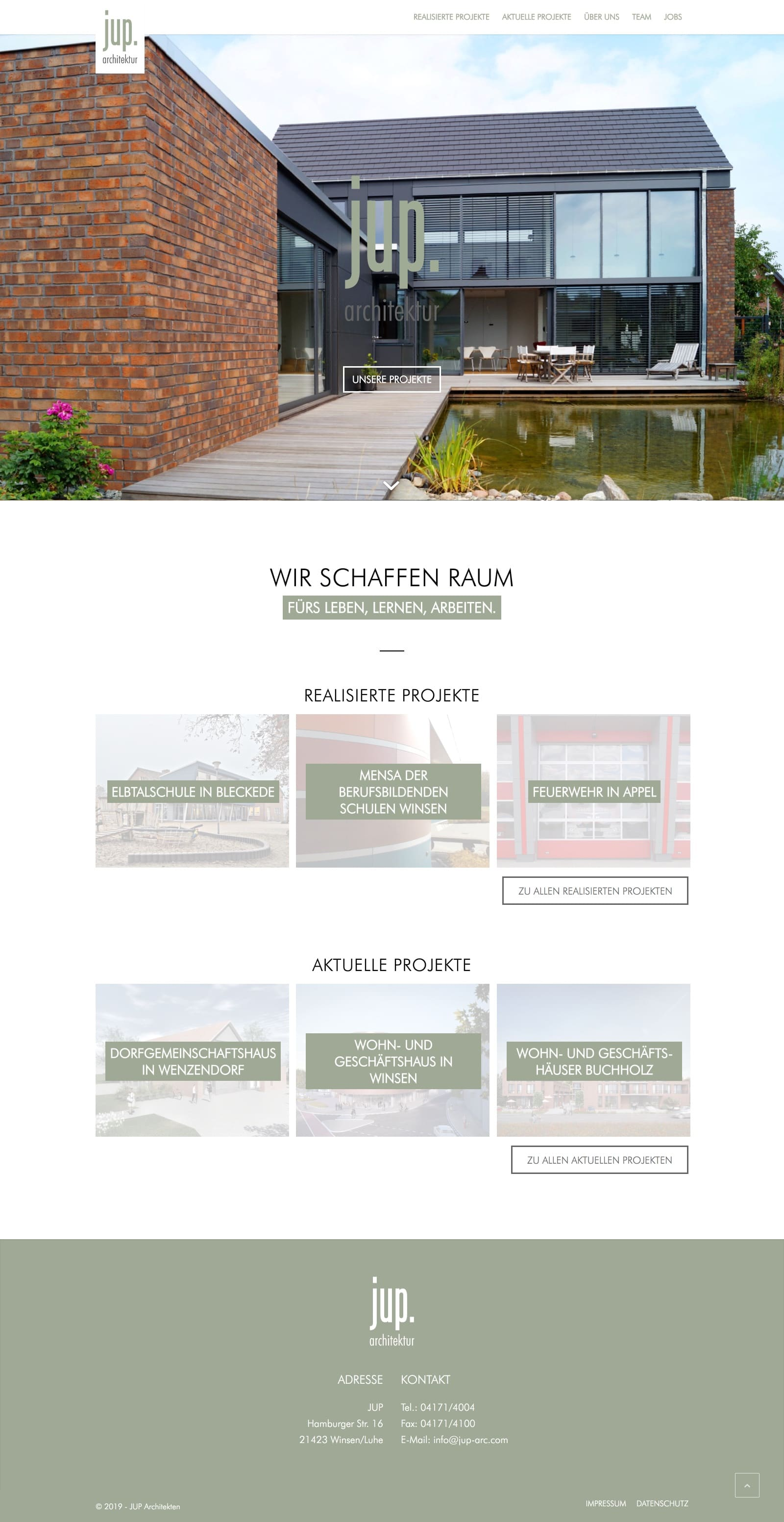 JUP-Architekten - Website