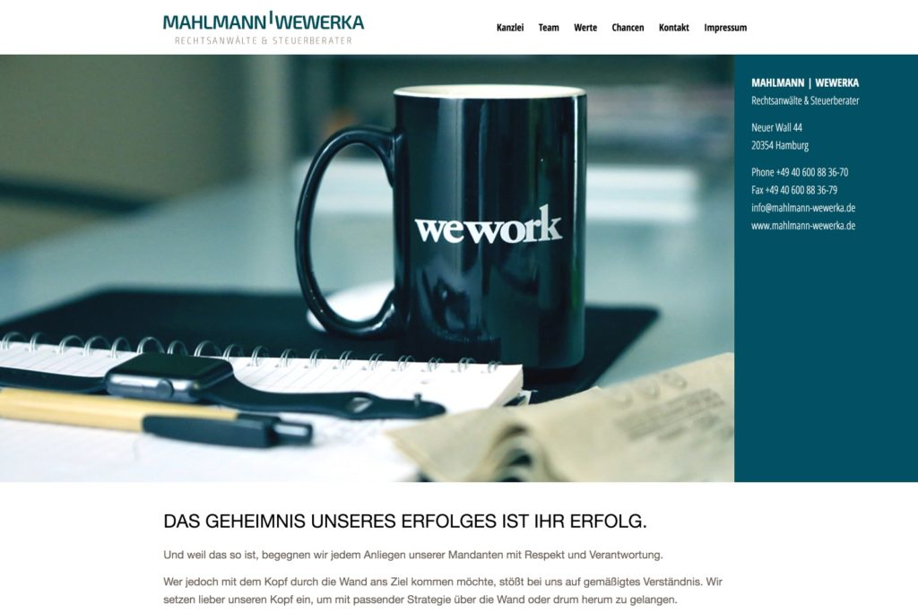 Kanzlei Mahlmann Startseite