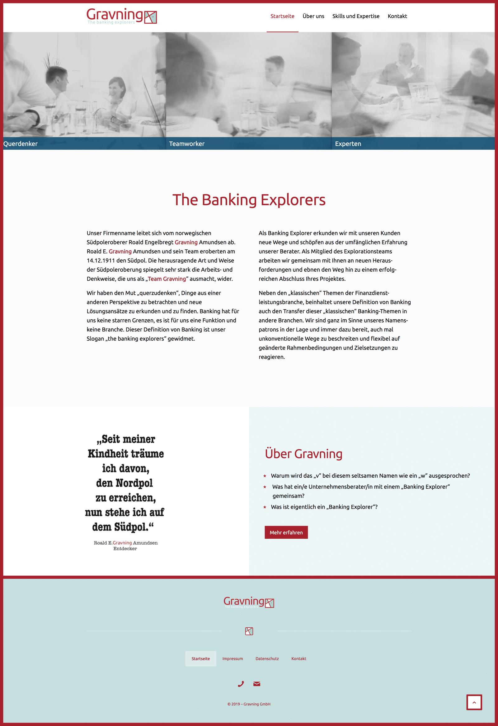 Gravning Website