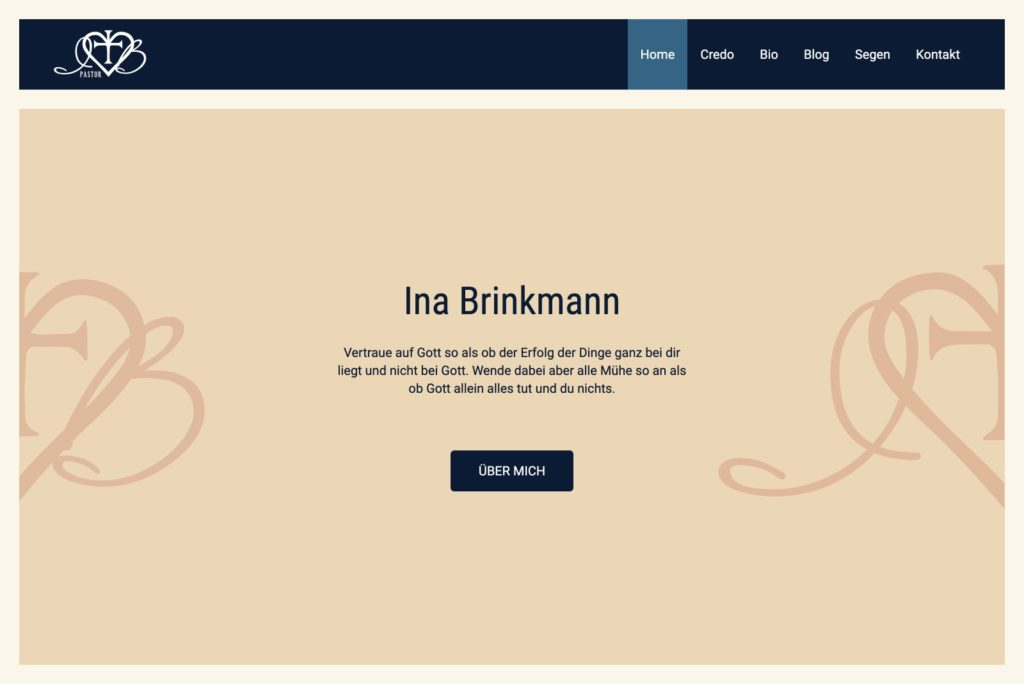 Pastorin Ina Brinkmann - Startseite
