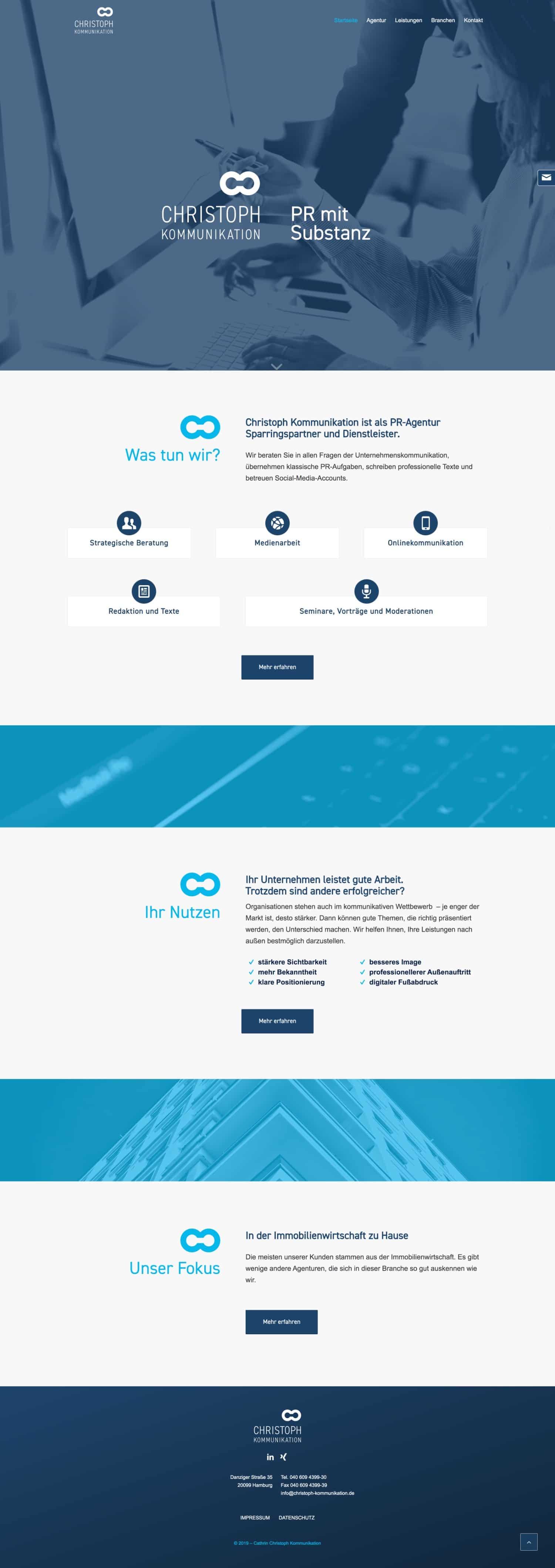 Website Christoph Kommunikation