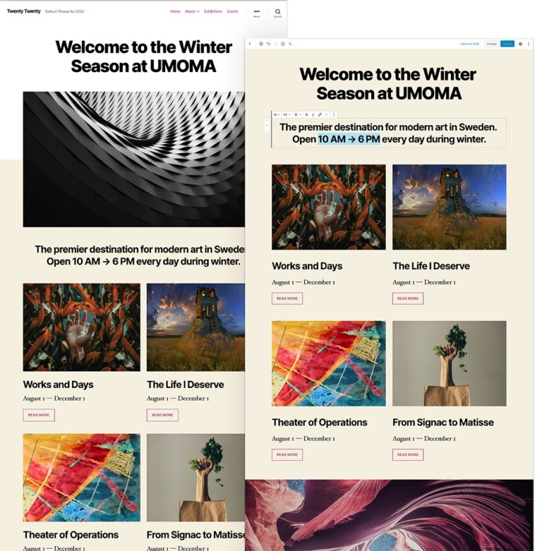 WordPress Twenty Twenty-Theme
