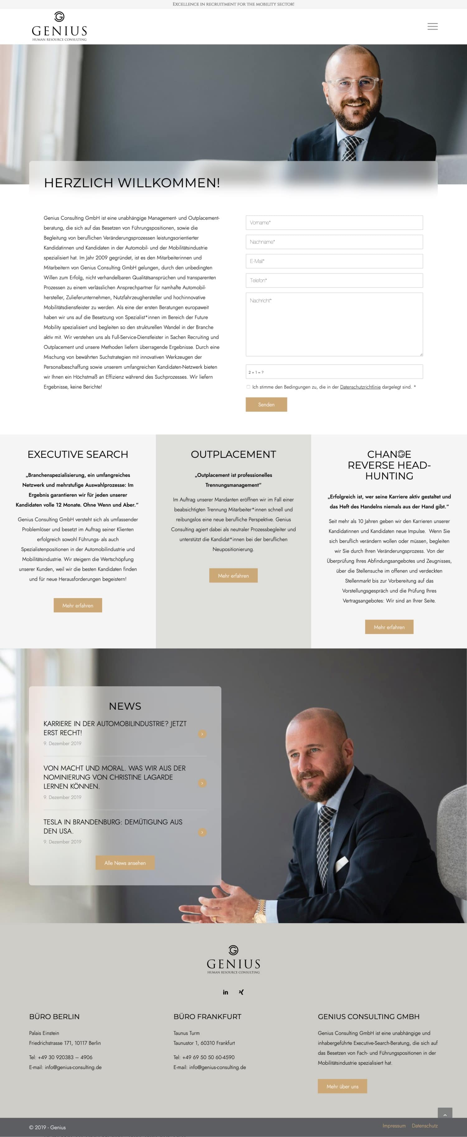 Genius Consulting - Website