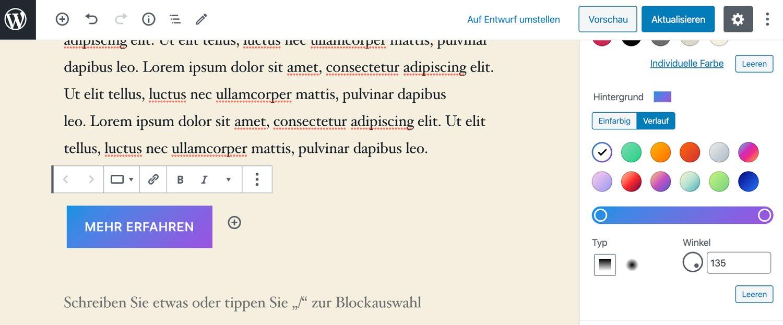 Verlauf im Block Editor