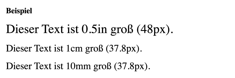 inch Zentimeter Millimeter