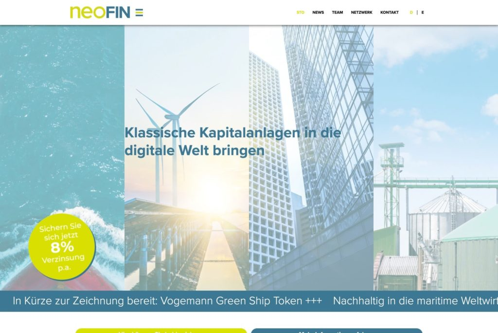 Neofin Startseite