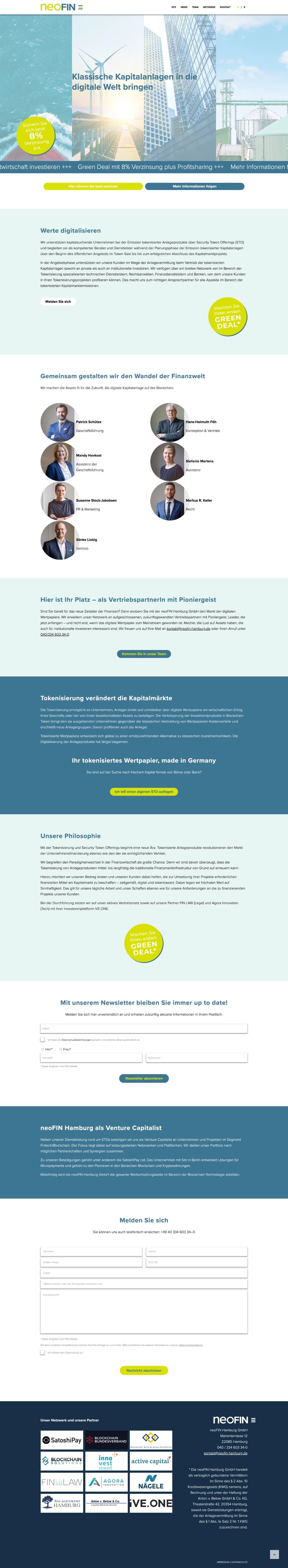 Neofin Website
