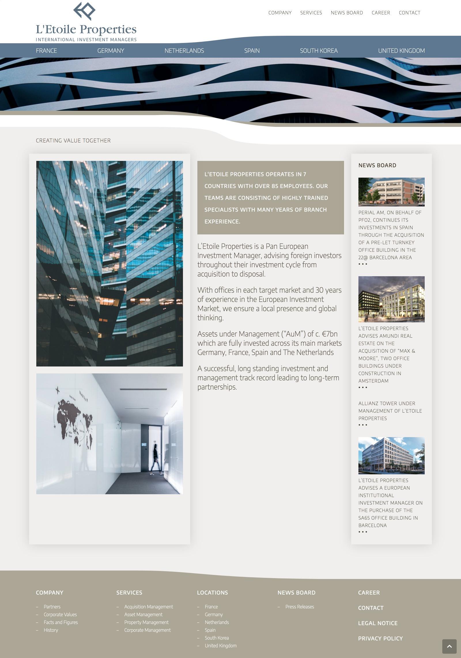 L'Etoile Properties Website