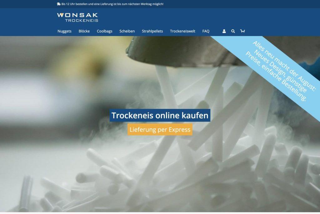 Trockeneis-Shop Startseite
