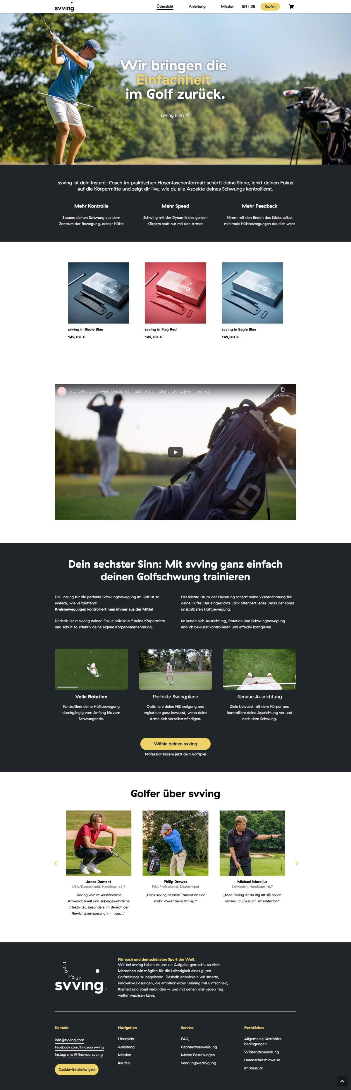 Svvin.com Ansicht der Website