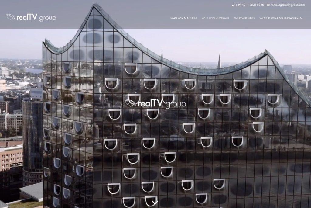 realTV-group - Ansicht der Startseite