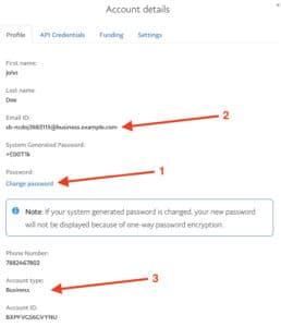 Passwort des PayPal Sandbox-Accounts ändern