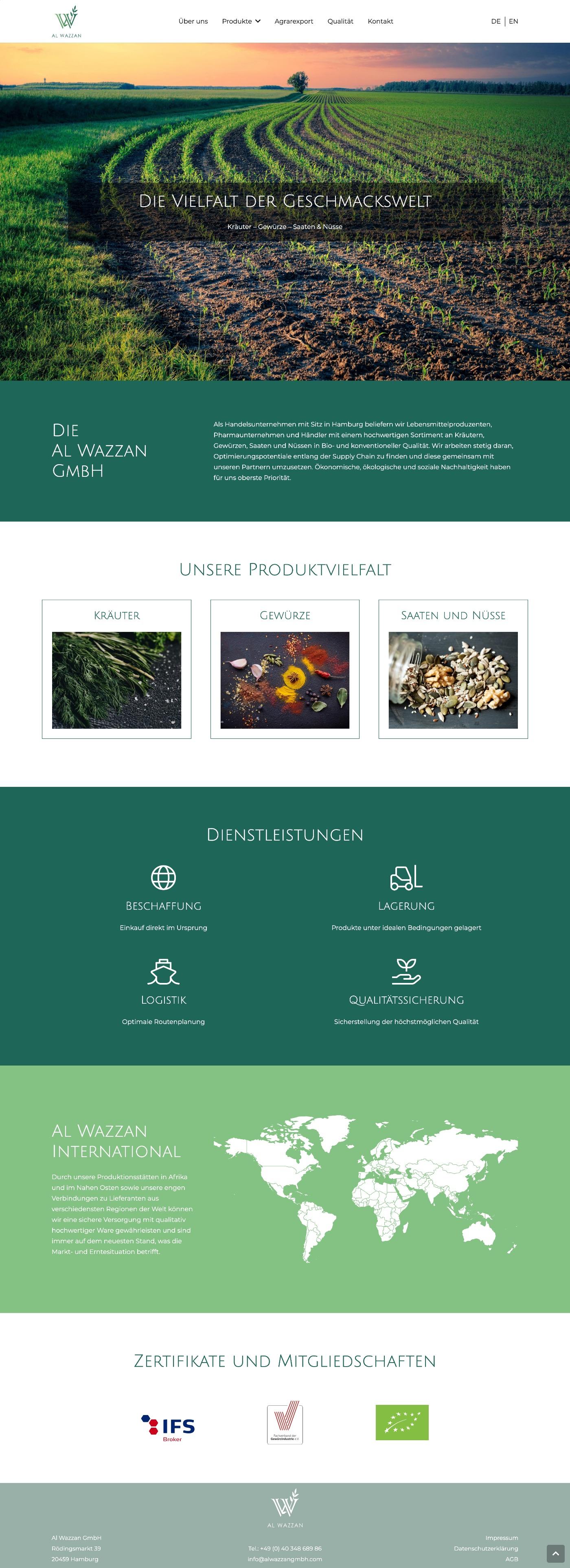 Al Wazzan GmbH - Webdesign