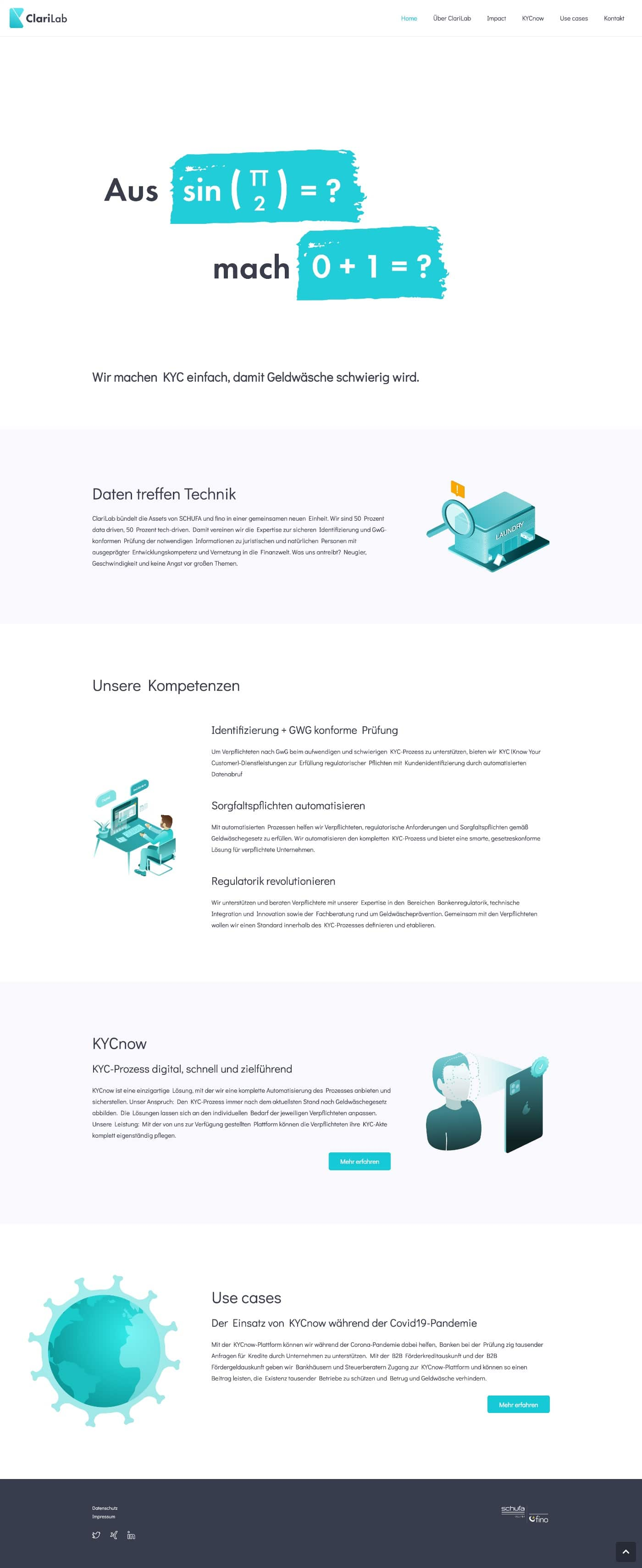 ClariLab - Webdesign