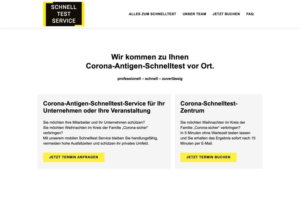 Corona-Antigen-Schnelltest - Startseite