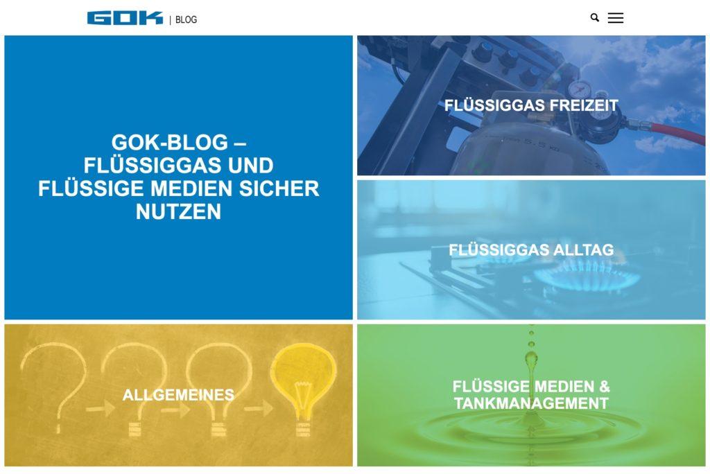 GOK-Blog - Design der Startseite