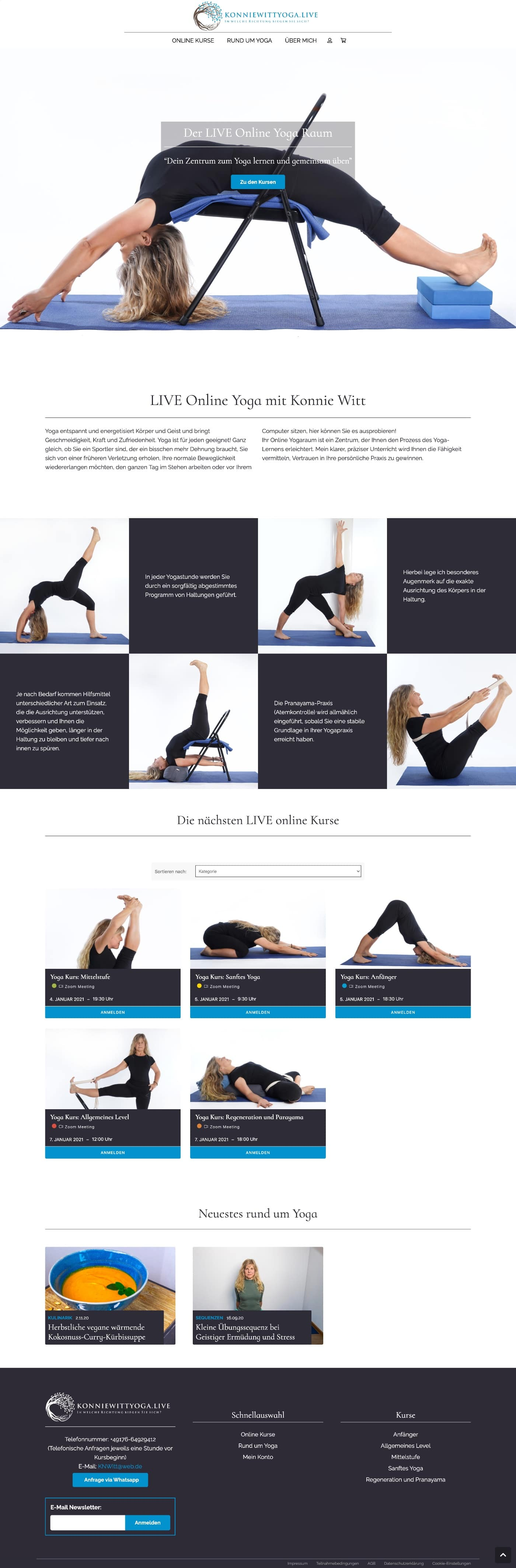Konnie Witt Yoga - Webdesign