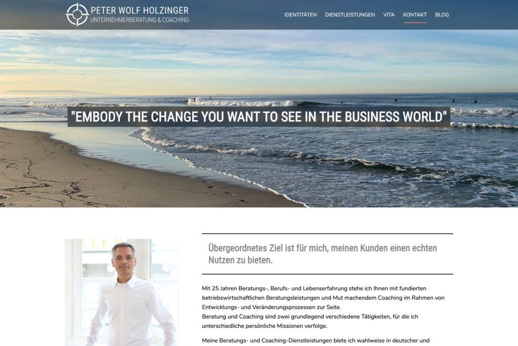 Peter Wolf Holzinger - Startseite