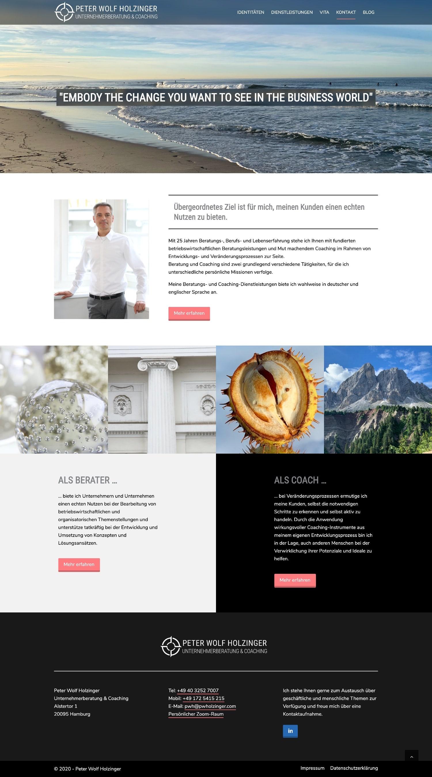 Peter Wolf Holzinger - Website-Design