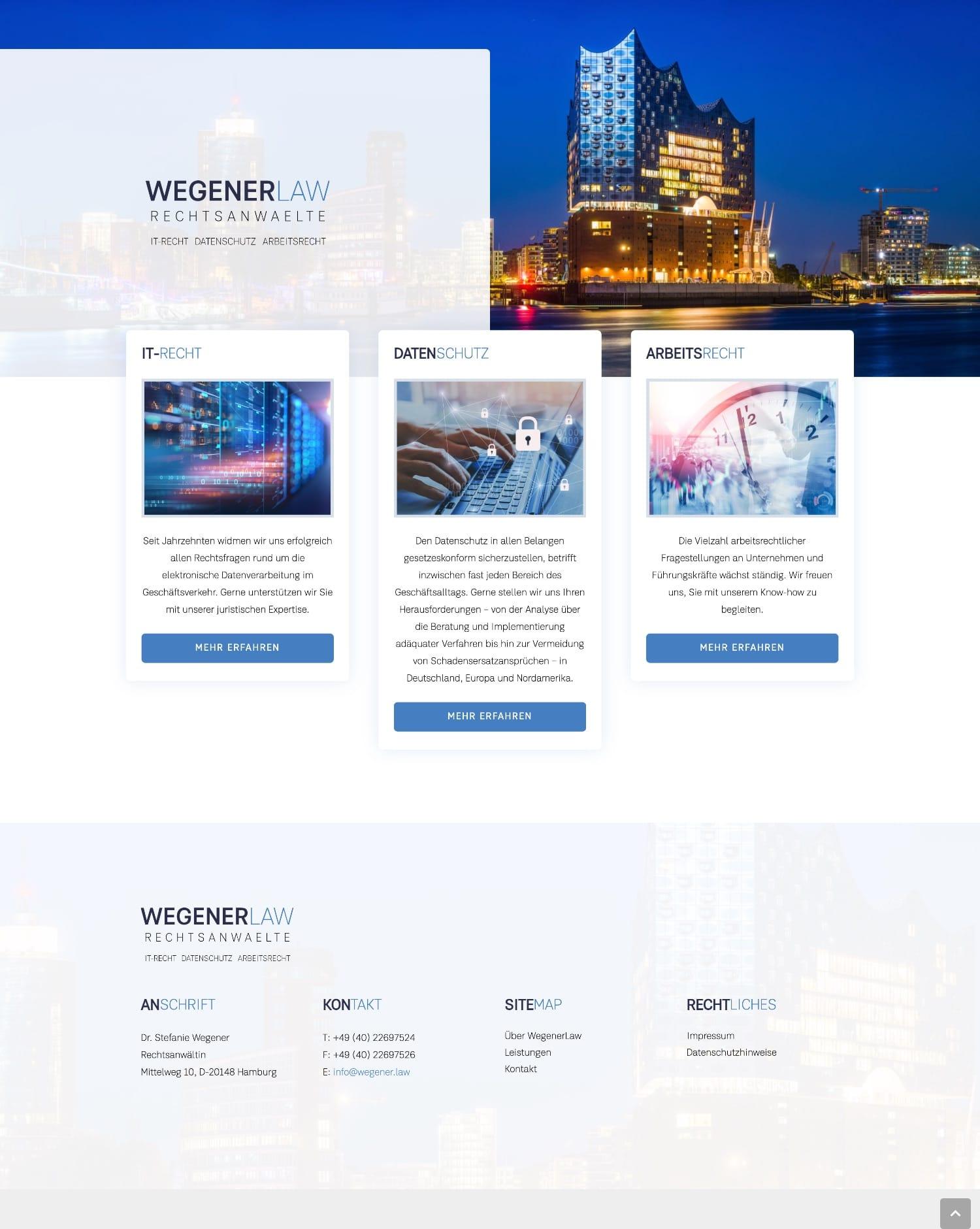Wegener Law - Website-Design