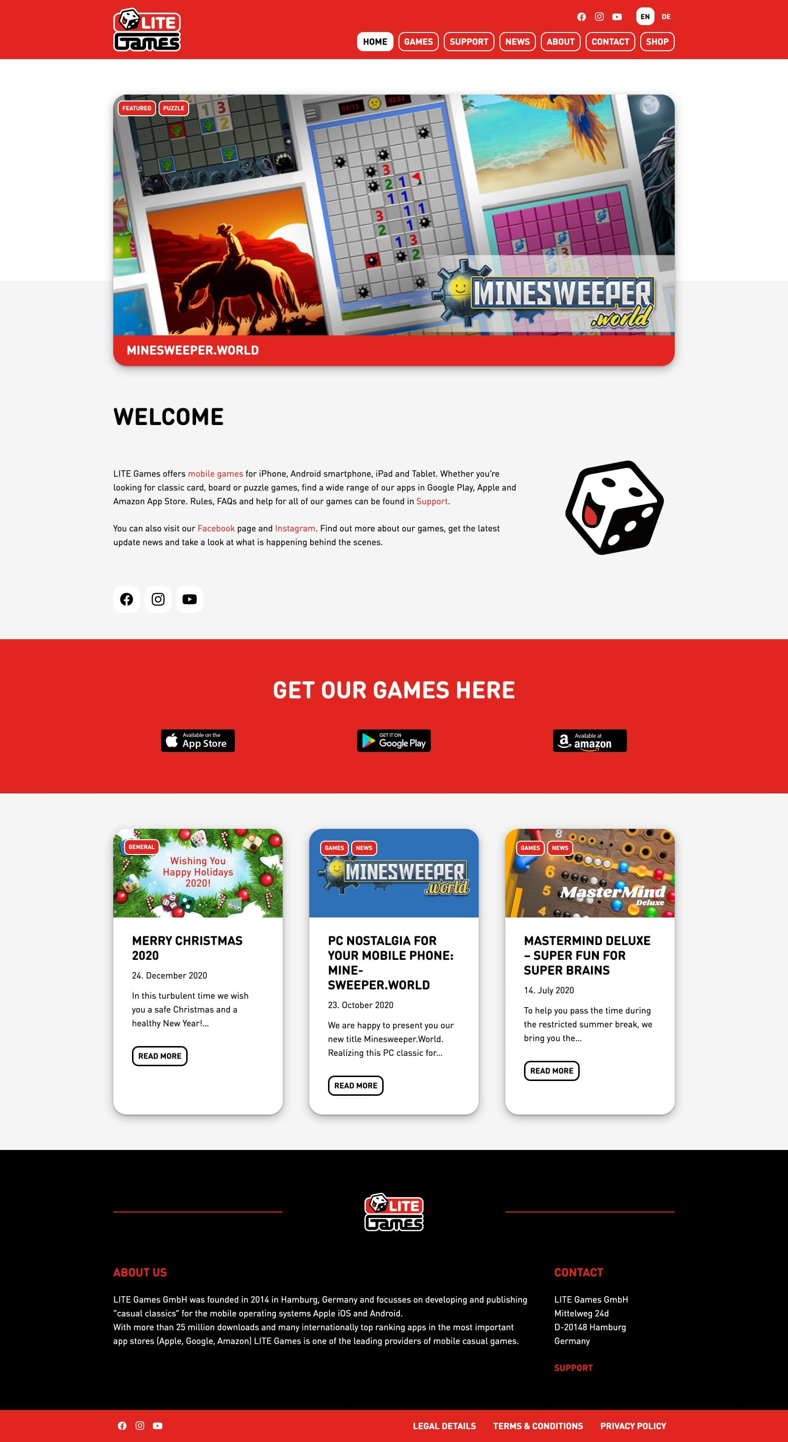 LITE-Games - Website