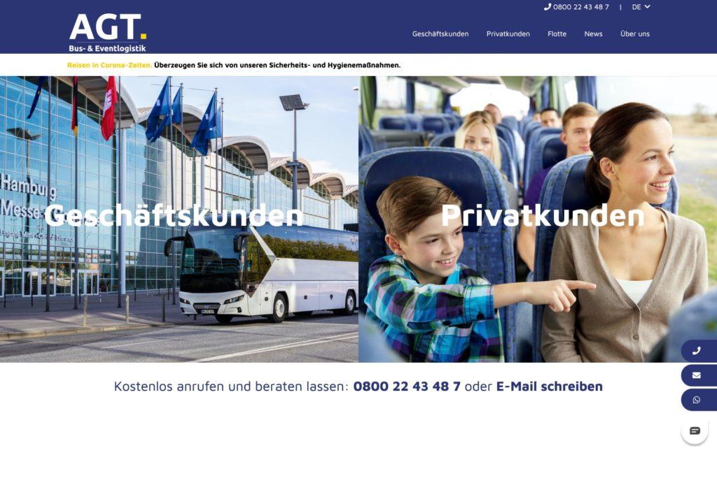 AGT Busvermietung - Startseite
