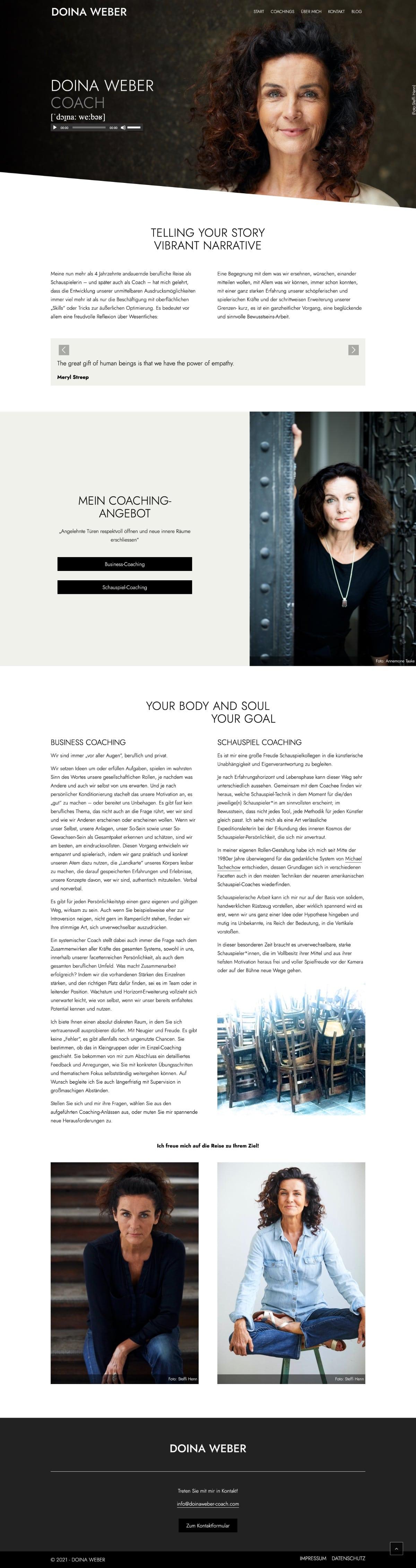 Doina Weber - Website