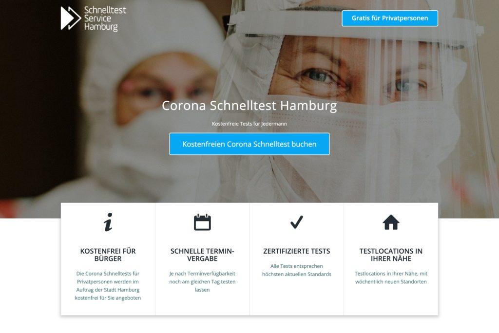 Schnelltest Service Hamburg - Startseite