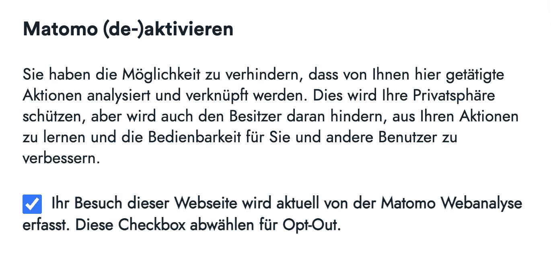 Opt-Out Matomo