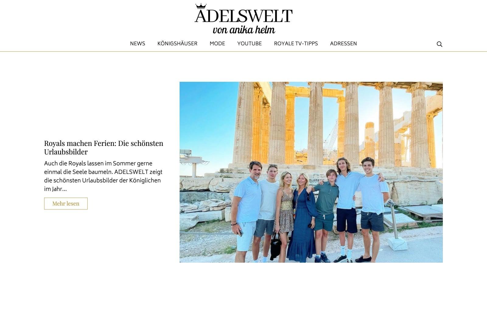 Adelswelt.de - Startseite
