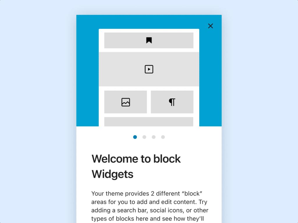 Verwaltung der Widgets mit Blöcken