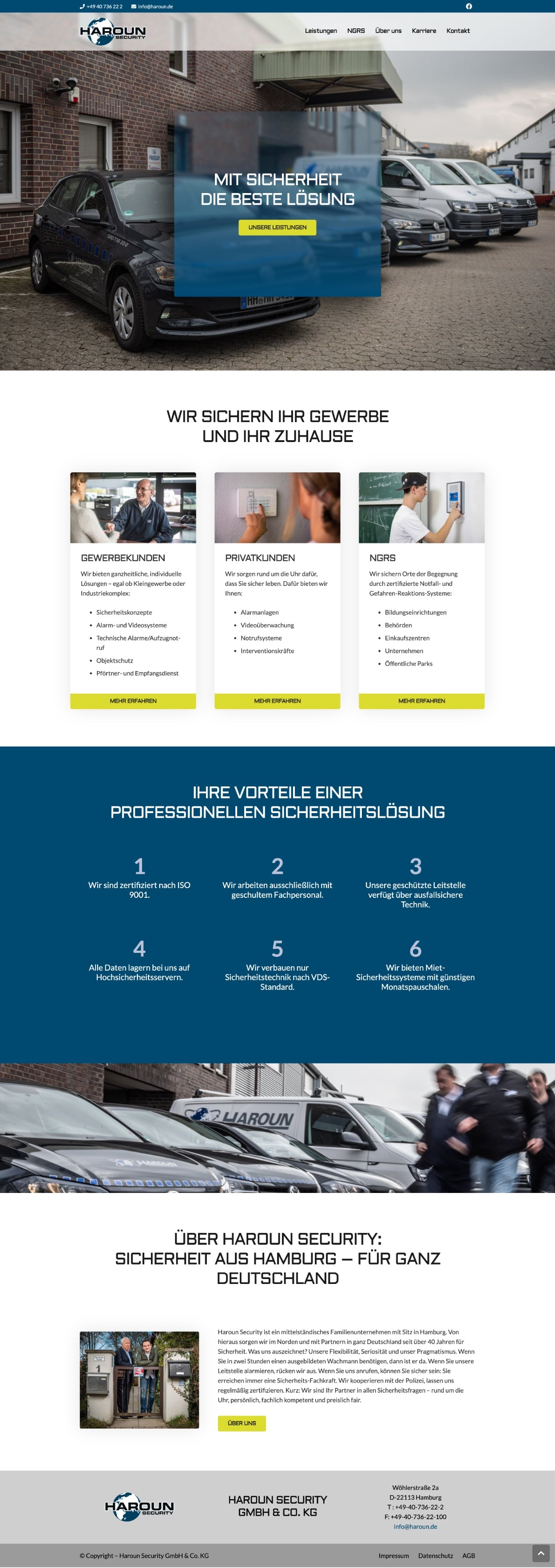 Haroun Security GmbH & Co. KG - Website