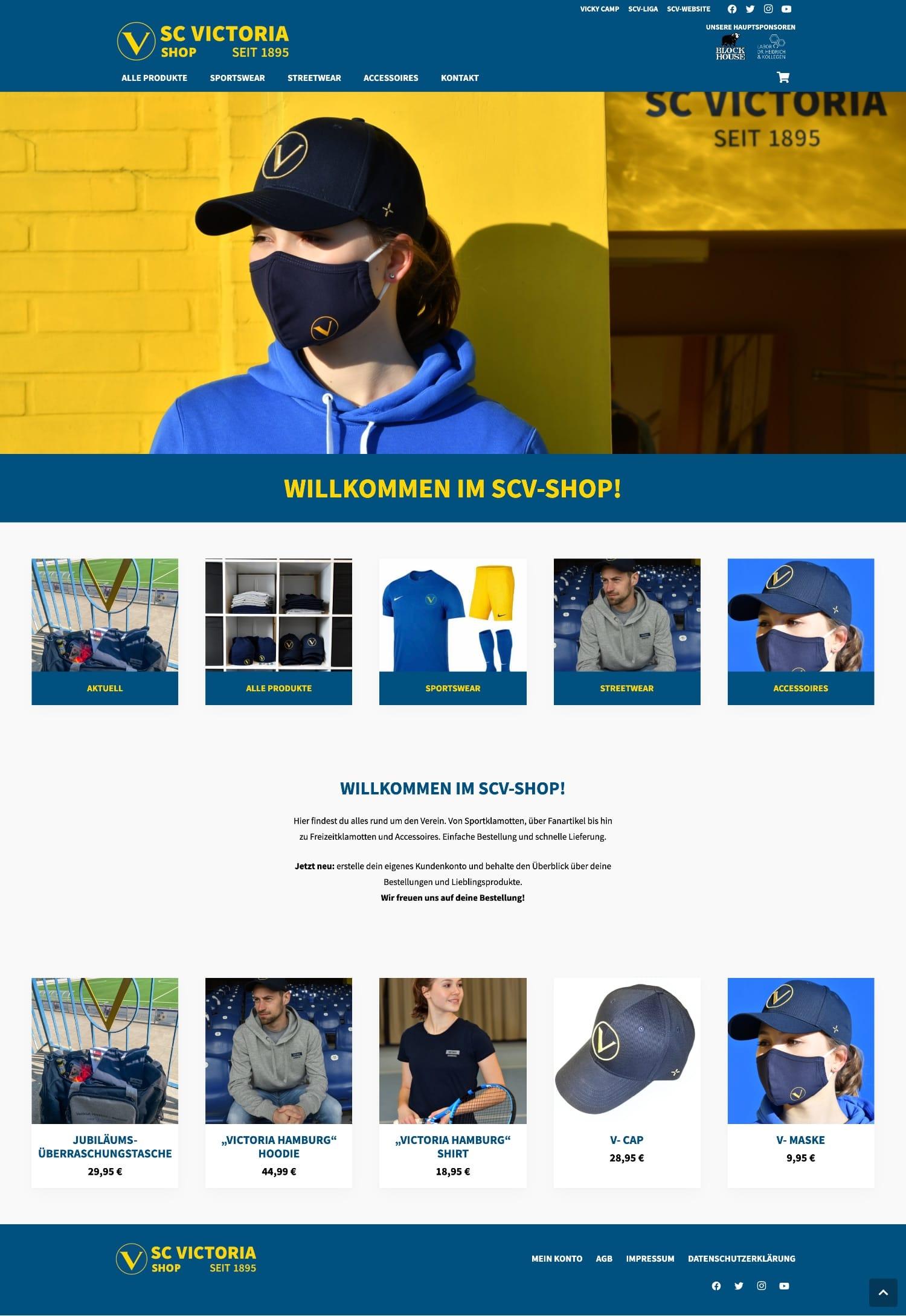 SC Victoria-Shop - Website