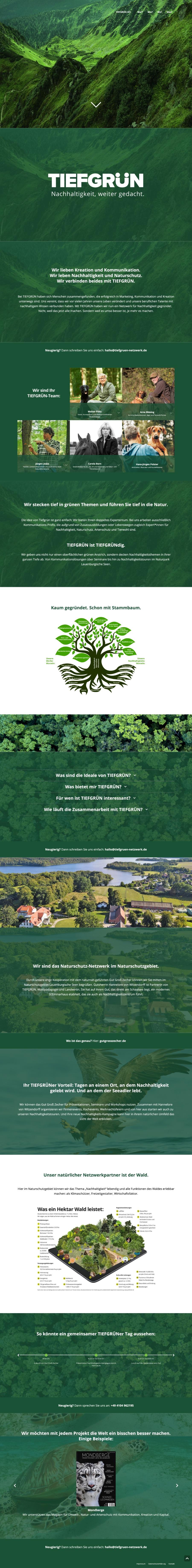 Tiefgrün-Netzwerk - Website
