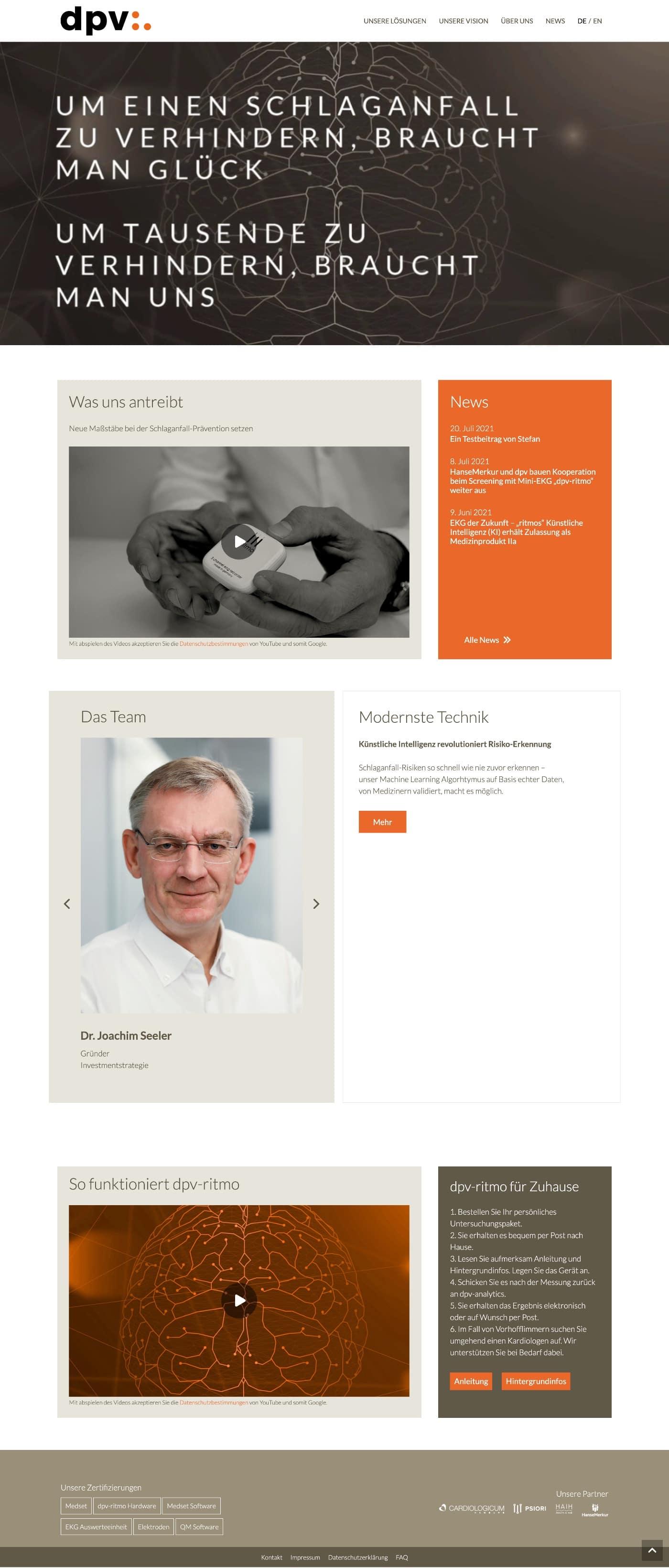dpv analytics GmbH - Website