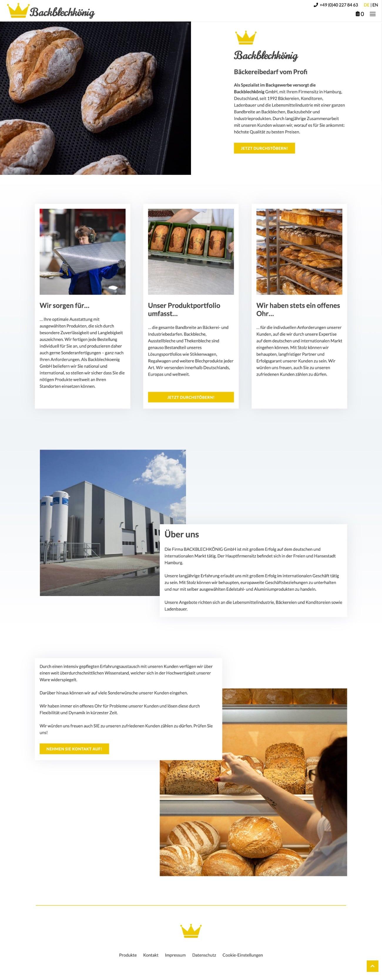 Backblechkönig - Website