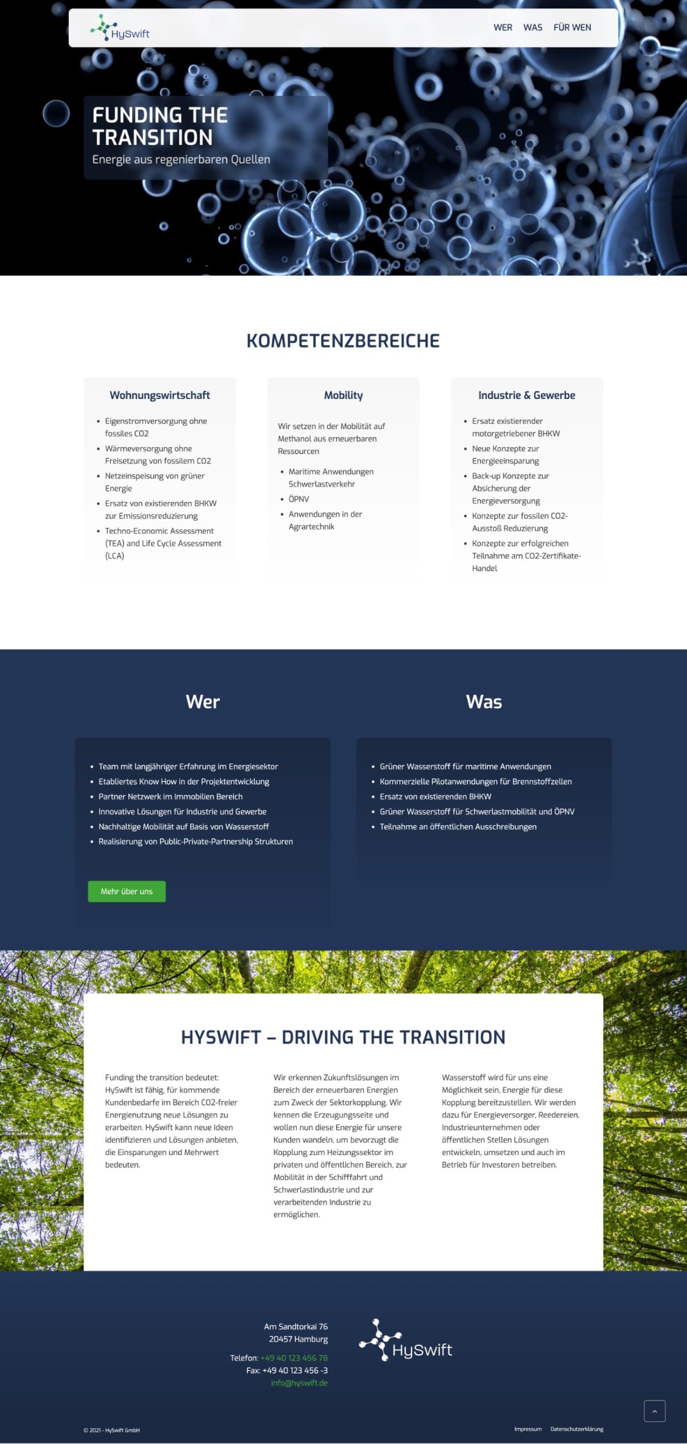 HySwift-GmbH - Website